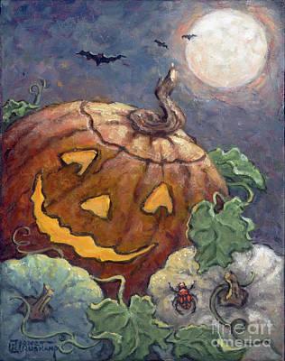 Painting - Halloween II by Janet Kruskamp