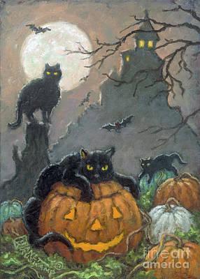 Painting - Halloween IIi by Janet Kruskamp