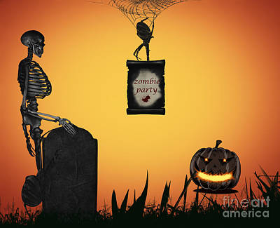 Halloween Party Night Art Print by Dani Prints and Images