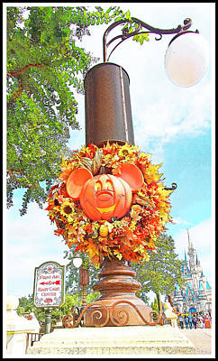 Halloween In Walt Disney World Art Print