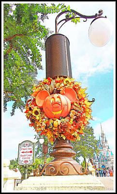 Halloween In Walt Disney World Art Print