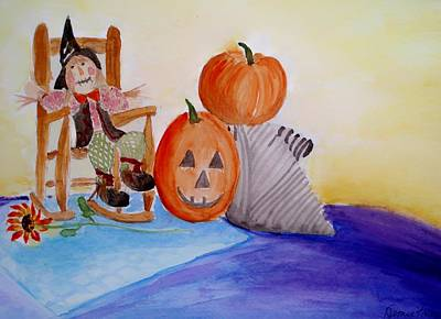 Painting - Halloween by Jamie Frier