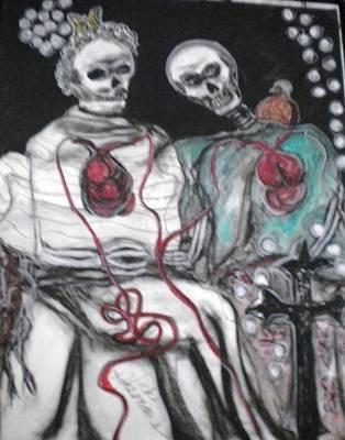 Halloween Love Art Print by Victoria Hasenauer