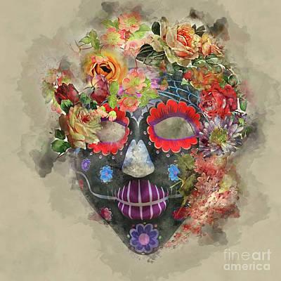 Photograph - Halloween Mask 2 by Barbara Dudzinska