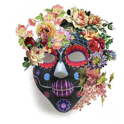 Photograph - Halloween Mask 3 by Barbara Dudzinska