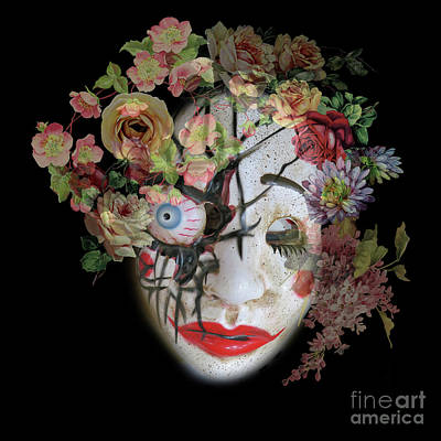 Photograph - halloween Mask 6 by Barbara Dudzinska