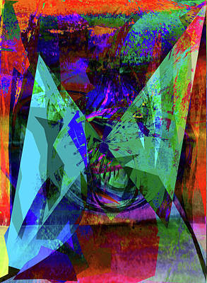 Digital Art - Halloween Mask by David Pantuso