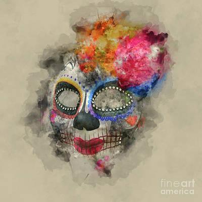 Photograph - Halloween Masks 1 by Barbara Dudzinska