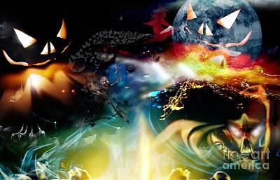 Halloween Moon Original by LDS Dya