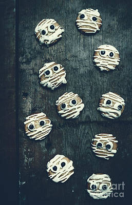 Butter Photograph - Halloween Mummy Cookies by Jorgo Photography - Wall Art Gallery