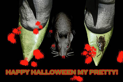 Mixed Media - Halloween My Pretty by Lesa Fine