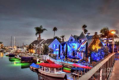 Photograph - Halloween Naples Canals  by David Zanzinger
