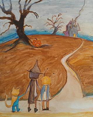 Painting - Halloween Night by Dawn Vagts