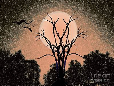 Painting - Halloween Night by Desiree Paquette