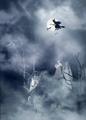 Photograph - Halloween Night by Diane Schuster