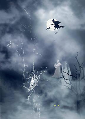 Photograph - Halloween Night by Diane Schuster