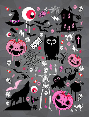 Halloween Night  Art Print by Mark Ashkenazi