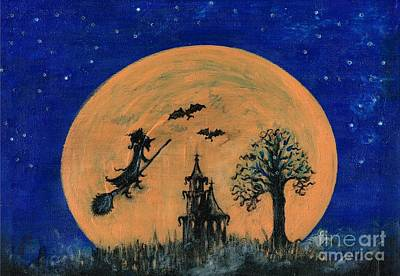 Painting - Halloween Night  by Teresa White