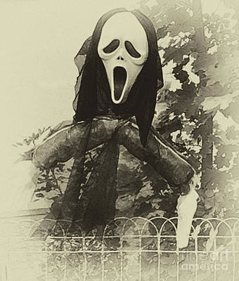 Photograph - Halloween No 1 - The Scream  by Eva-Maria Di Bella