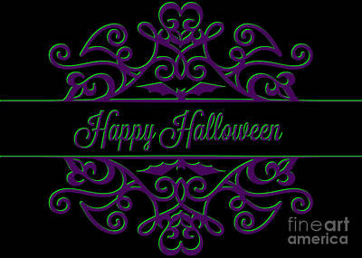 Digital Art - Halloween Ornamental by JH Designs
