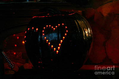 Photograph - Halloween Pumpkin With A Heart by Marie Neder