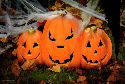Photograph - Halloween Pumpkins  On Tillson Street by LeeAnn McLaneGoetz McLaneGoetzStudioLLCcom