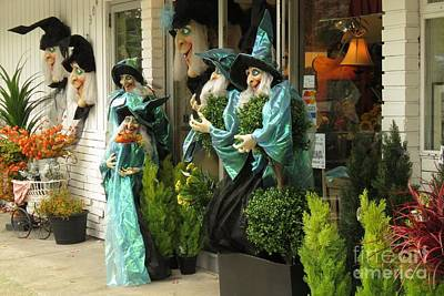 Photograph - Halloween Sales Ladies by Frank Townsley