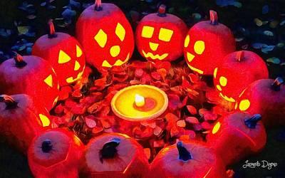 Pumpkin Painting - Halloween Secret Ritual by Leonardo Digenio