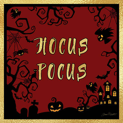 Digital Art - Halloween Sign 5 by Jean Plout