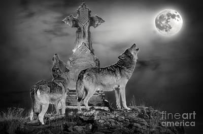 Halloween - Spirits Of The Wolf Art Print