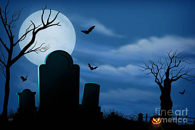 Spook Digital Art - Halloween Spooks by Bedros Awak