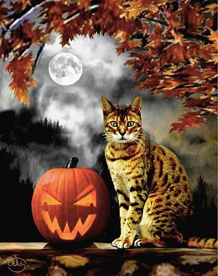 Painting - Halloween Tom by Ron Chambers