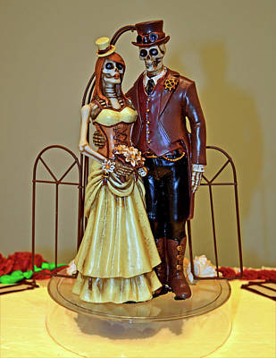 Photograph - Halloween  Wedding Cake Decoration 001 by George Bostian