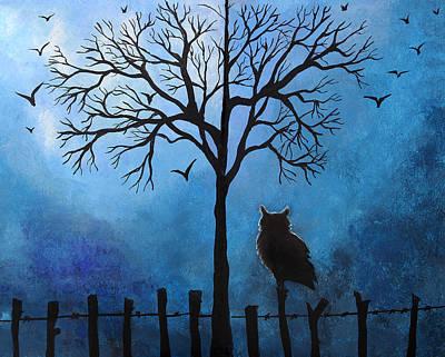 Halloween Whimsical Artwork Art Print by Nirdesha Munasinghe
