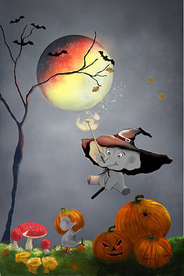 Painting - Halloween Wishes By Sannel Larson by Sannel Larson