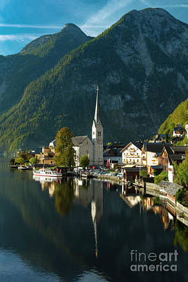 License Plate Skylines And Skyscrapers Rights Managed Images - Hallstatt Dawn II Royalty-Free Image by Brian Jannsen