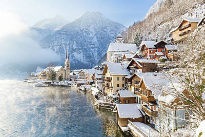 Photograph - Hallstatt In Winter by JR Photography