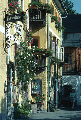Photograph - Hallstatt Inn by John Farley