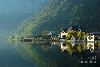 Photograph - Hallstatt Reflections by Brian Jannsen
