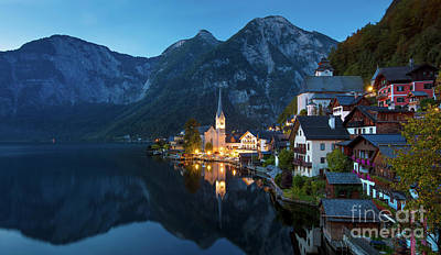 Photograph - Hallstatt Twilight by Brian Jannsen