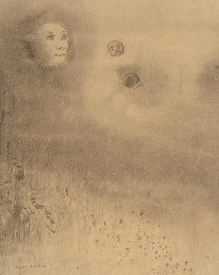 Hallucinations Drawing - Hallucinations by Odilon Redon