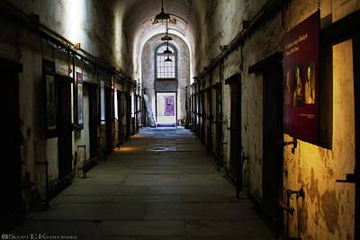 Hallway At Eastern State Penitentiary  Art Print by Scott Kwiecinski