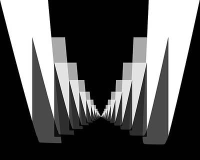 Digital Art - Hallway by Bob Wall