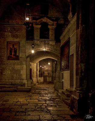 Photograph - Hallway Inside The Church Of The Holy Sepulcher by Endre Balogh