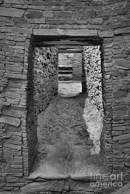 Photograph - Hallway Of The Ancients - Black And White by Adam Jewell