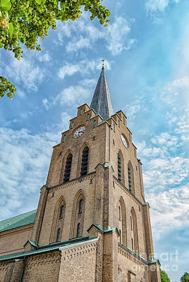 Photograph - Halmstad Church In Sweden by Antony McAulay