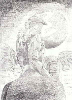 Halo Soldier Art Print