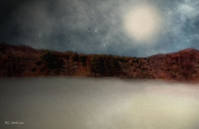 Painting - Haloed Moon by RC deWinter