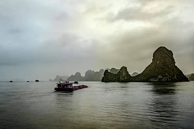 Photograph - Ha Long Barge by Maria Coulson