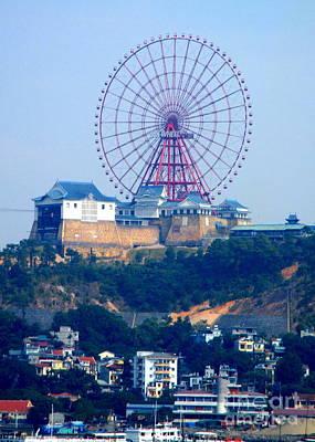 Photograph - Halong Bay Ferris Wheel by Randall Weidner